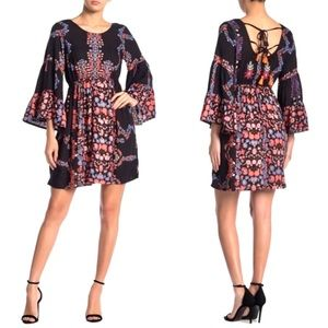 RAGA Hattie Floral Print 3/4 Sleeve Dress